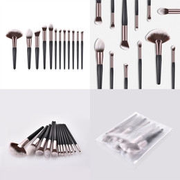 Gold Tools NZ - New High Quality Makeup Brushes Set 12 pcs Rose Gold Makeup Brush Set Large Fan Brush Professional Beauty Tools