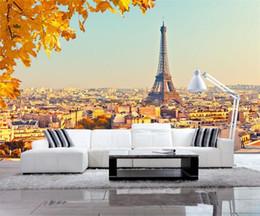 $enCountryForm.capitalKeyWord Australia - Custom 3D Wallpaper Design Autumn In Paris Photo Kitchen Bedroom Living Room Wall Murals Papel De Parede Para Quarto