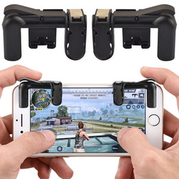 Cellphone Keys Australia - 1 Pair Fire Button Auxiliary Key Phone Gamepad PUBG Mobile Cellphone Game Controller Sooting Trigger with hight quality