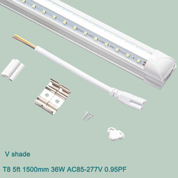 industrial fluorescent light NZ - T8 V-shade led tube light 5ft 1500mm 36W Integrated Led Tube Fluorescent Lamp AC110V 220V High Lumen