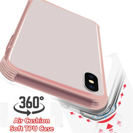 transparent iphone front back Canada - 2019 360 Full Body TPU phone Case Front Back Transparent Air Cushion Shockproof Airbag Soft Cover for iphone X XS MAX XR 8 6 7 plus