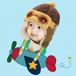 $enCountryForm.capitalKeyWord NZ - Lovely Funny Baby Hat Winter Children Autumn Kids Toddler Hats Cartoon Pilot Hat Cute Warm Thick Soft Girls Boys Beanies Luvas