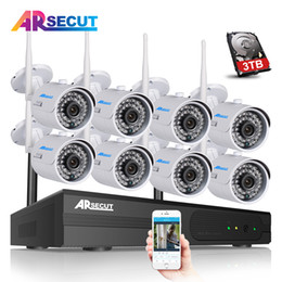 wireless camera ip nvr UK - New 8CH Wireless NVR CCTV Kit 1080P HD Outdoor 36IR Night Vision Security IP Camera WIFI Video Surveillance System
