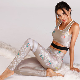 $enCountryForm.capitalKeyWord NZ - Women Sports Sexy Comfortable Printing Fitness Set Clothing For Woman Workout Sports Yoga Set Sport Jumpsuit For Workout Clothes