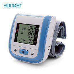 Yonker Wrist Monitor de Pressão Arterial Médica Monitor de Pressão Arterial Automática Portátil Digital de Pulso Monitor de Pressão Arterial