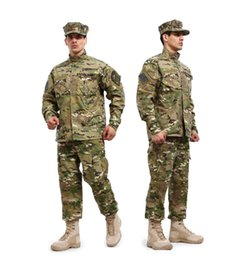 hunting uniforms 2018 - Men's CP Millitary  suits Breathable Camouflage uniform sets tactical outdoor hunting Coat & Pants S-XXL discount huntin