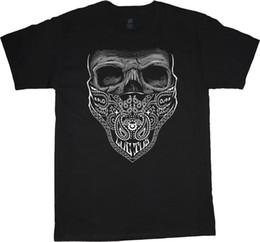 Tall Tee Men Canada - Big and Tall t-shirts for men Bandana Skull decal design tee big man clothing