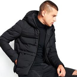 2018 Moda Inverno Mens Giacche Calde Addensare Maschi Maschi Con Cappucci  Solid Army Green Cappotti Slim Fit Outwear Alta Qualità 66651 86c128c09b1