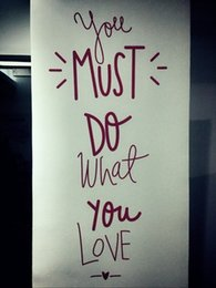 $enCountryForm.capitalKeyWord NZ - YOU MUST DO WHAT YOU LOVE Wall Stickers Quotes DIY Motivational Lettering and Saying Wall Art Decals for Living Room Bedroom Home Decor