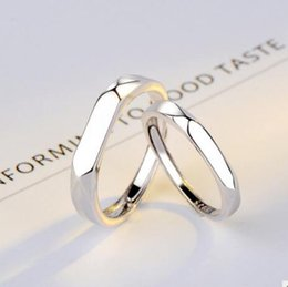 f24e2f1434 Simple Silver couple ring online shopping - designe jewelry rings for couple  S925 srterling silver rings
