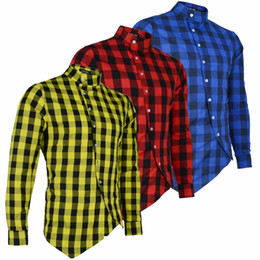 Blue flannel shirt men online shopping - Long Sleeve Plaid Flannel Men Shirt Slim Fit Mens Casual Shirts Mens Designer Long Sleeve Shirts
