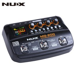 Discount guitar multi effect - NUX MG-200 Multi Effect Guitar Pedal Processor 55 Models 70Seconds Recording Guitar Looper Drum Machine Synthesizer (EU