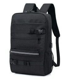 $enCountryForm.capitalKeyWord UK - New Fashion Trend Skateboard Bag Password Lock USB Multi-function Backpack Outdoor Leisure Travel Bag Student Bag