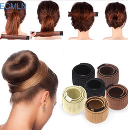 ponytail tools NZ - Hair Accessories Synthetic Wig Donuts Bud Head Band Ball French Twist Magic DIY Tool Bun Maker Sweet French Dish Made Hair Band