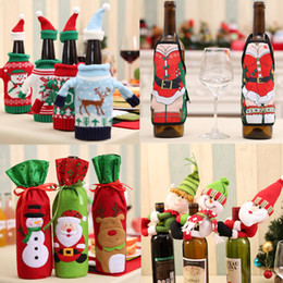 $enCountryForm.capitalKeyWord NZ - Christmas Wine Beer Champagne Bottle Decor Santa Claus Snowman Deer Bottle Cover for New Year Xmas Home Party Dinner Table Decor