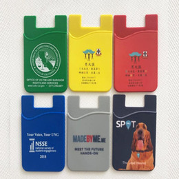 promotional credit cards Australia - OEM Promotional gift 3M sticker silicone smart pouch wallet,3m sticker credit card holder,card holder for all smart phones