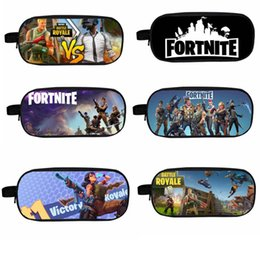 Box student pencil online shopping - 18 colors Fortnite Kids Handbags cm Kids Student fortnite Printed Pencil Bags Coin Purse Kids Wallet Girls Cosmetic Bag MMA345