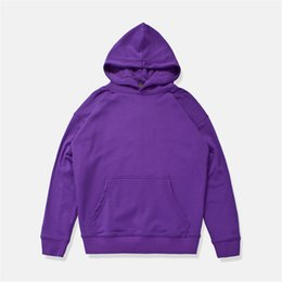 justin bieber clothing style 2019 - Solid Color Front Pocket Loose Style High Street Hoodie Men Terry Material Men's Hoodie Justin Bieber Kaye West Clo