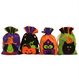 0f635d87da THINKTHENDO Funny Halloween Trick Or Treat Candy Bag Pumpkin Kids Gifts Bags  Drawstring Bag