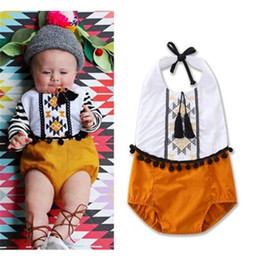 infant romper toddler Australia - Tassels Infant Girl Romper Sleeveless Babysuits Baby Jumpsuits 0-3 Years Toddler Kid Girl Romper Outfits Set Tassels Clothes Playsuit Summer