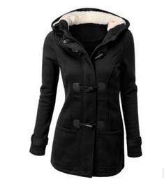 $enCountryForm.capitalKeyWord UK - Long Sleeve Sweatshirts Zipper Pockets New Winter Fall Women Jacket Coat Fleece Hooded Overcoats Casual Slim Outwear Grey Coats