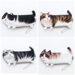 $enCountryForm.capitalKeyWord Australia - Newest Cute Cat Makeup Bags Pencil Pen Bag Pen Box Stationery Bag Storage Organizer Bag Students Gifts