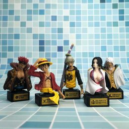 One Piece Figure Hancock Australia - 6-11CM 5pcs lot Japanese anime figure one piece Luffy Boa Hancock Silvers Rayleigh action figure collectible model toys