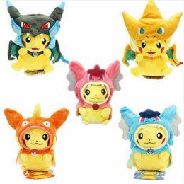 Pikachu Jouets En Peluche 7 styles Cosplay Pikachu Poupées Farcies Pikachu Cosplay Méga Charizard gyrados Animal En Peluche Poupées Cadeau De Noël pour Enfants z44