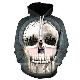 gold novelty suits 2019 - 3D Hoodie Men's skull 3D Full Print Novelty Hooded Sweatshirt Fashion Pullover Sportswear Street Suit Harajuku Tops