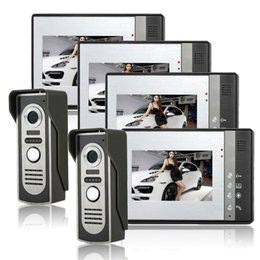 Wholesale video door phone intercom IR Night Doorbell Camera outdoor indoor Intercom Doorbell Open lock function