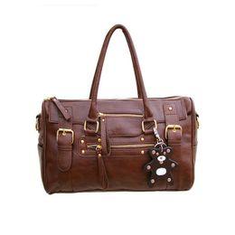 Bear Tote Bags Canada - women's handbag vintage belt bear casual tote female shoulder bag messenger bag casual large capacity brown hot sale