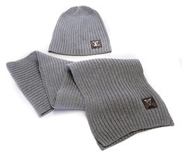 Hottest Scarves NZ - Hot Sale New Fashion Winter And Autumn Warm Hat High Quality Cap Men Women Scarf Hats Knitted Caps Scarf Adjustable,New Brand G1622