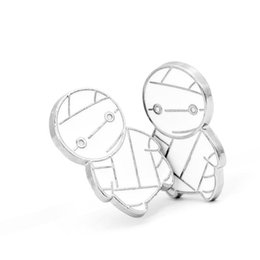 Cartoon small mummy alloy brooch keychain zombie halloween brooch European and American children's jewelry kids accessories from vintage crucifixes manufacturers