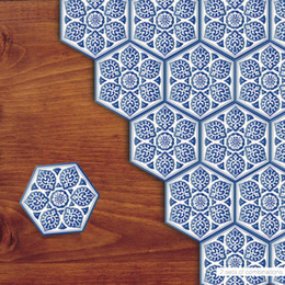 Hexagon Tiles Online Shopping Hexagon Mosaic Tiles For Sale - Blue and white tiles for sale