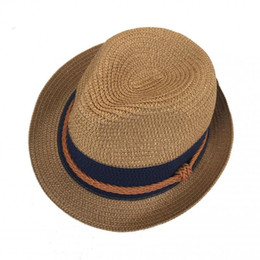 Chinese  Fedora Straw Sun Hat For Women Men Unisex British Style Sunshade Beach Panama Jazz Top Hat Vintage Female Male 2018 Summer manufacturers