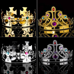 Tiara queen online shopping - Idealway Baroque Luxury Pearl Crown Party Prom Vintage Full Crystal Big King Queen Tiara and Crown coroa casament