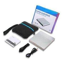 Externes USB-DVD-Laufwerk DVD-RW / CD-RW Brenner Slim Optisches Laufwerk CD DVD ROM-Player Writer Für Windows 7/8/10 MAC OS Linux + Laufwerkstasche im Angebot