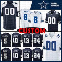 6268b60cc dallas jersey 2019 - Custom Dallas Cowboys Jersey 70 Zack Martin 33 Tony  Dorsett 8 Troy