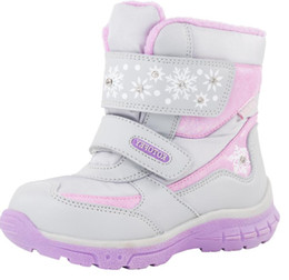 China Baby Child Boots Fashion Waterproof For Winter -30 Degrees Girls Snow Boots Genuine Leather Add Wool Toddler Shoes Size 22-25 supplier flat shoes crystals suppliers