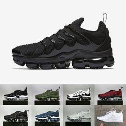 2018 Vapormax TN Plus Men Shoes Olive Reverse Sunset White Silver Colorways Shoes Men For Running Male Shoe Pack Triple Black Mens Shoes cheap shopping online FXC5gzqS