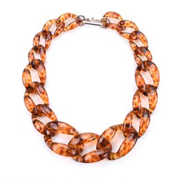 plastic pendant beads 2018 - PPG&PGG Beads plastic chain link necklace women maxi Jewelry beads fashion necklace cheap plastic pendant beads
