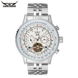 Chinese  JARAGAR Mens Watches Automatic Self-Wind Luxury Mechanical Watch Stainless Steel Band Resistant Complete Calendar Watch manufacturers