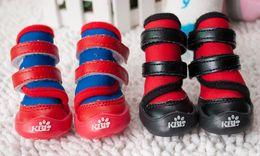 $enCountryForm.capitalKeyWord NZ - New 4pcs set Fashion Pet shoes for dogs Waterproof cloth Small - medium-sized Dog Boots Dog shoes rainy winter day