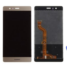 replacement panels NZ - 10PCS for Huawei P9 LCD Display Touch Screen Digitizer Panel Assembly For Huawei P9 LCD With EVA-L09 EVA-L19 Replacement Parts