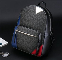 Discount school europe - High Quality Fashion Europe Designer Brand Mens Backpacks School bag Backpack Style Bags Free Shipping