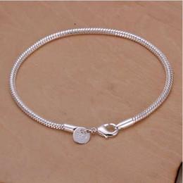$enCountryForm.capitalKeyWord NZ - Free Shipping Wholesale Silver Plated Bracelet,Wedding Jewelry Accessories,Fashion Silver 3M Snake Bone Chain Bracelets Bangle