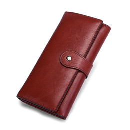 $enCountryForm.capitalKeyWord Canada - New Genuine Leather Purse For Women Fashion Zipper Ladies Long Clutch Wallets Big Capacity Wallet Female Card Holder Solid 8303