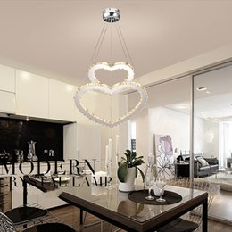 $enCountryForm.capitalKeyWord NZ - New modern Crystal Heart LED Crystal Chandelier Crystal Lamp   Lighting Fixture LED Circle Light Diameter Pendant Lamp