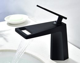 $enCountryForm.capitalKeyWord NZ - bathroom deck mounted basin Faucet Bathroom Brass matte black color Plated Black Single Handle HOT Cold Water mixer faucet tap BL777