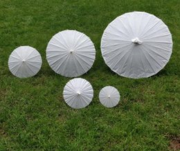 Bridal Wedding Parasols White Paper Umbrella Chinese Mini Craft 5 Radius1015203042cm Favor Decoration